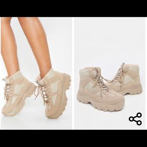 PLT sand flatform chunky sneakers